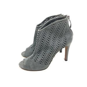 Metaphor Razor Booties Pumps Gray High Heels